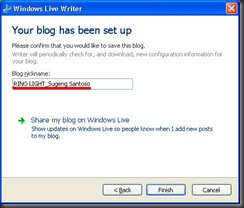 Windows Live Writer 5 - sblmnya klik yes