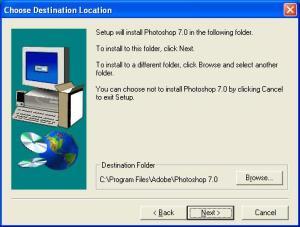 Cara Instal Photoshop 7